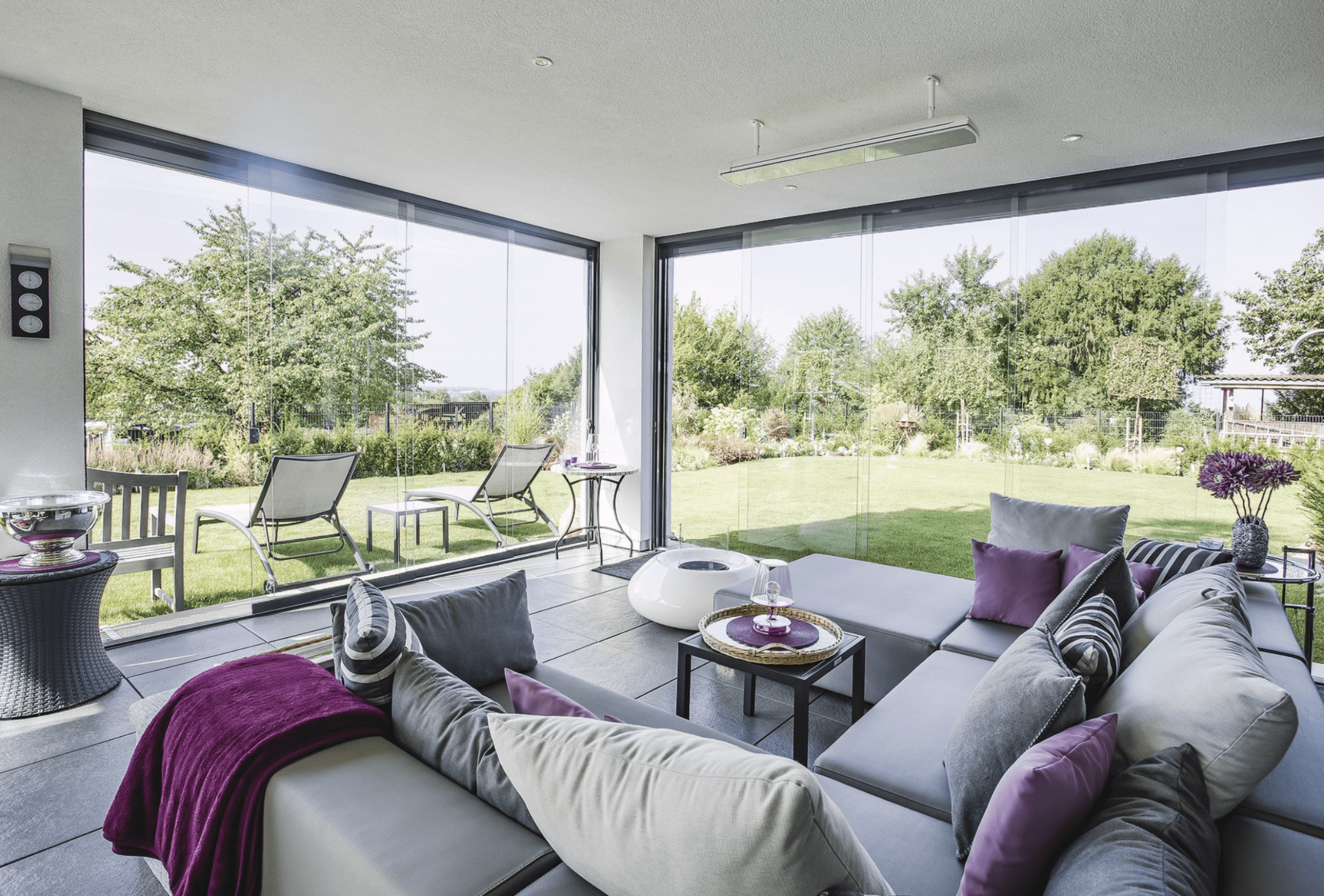Wintergarten Anbau - Luxus Haus Design Ideen innen WeberHaus Fertighaus - HausbauDirekt.de
