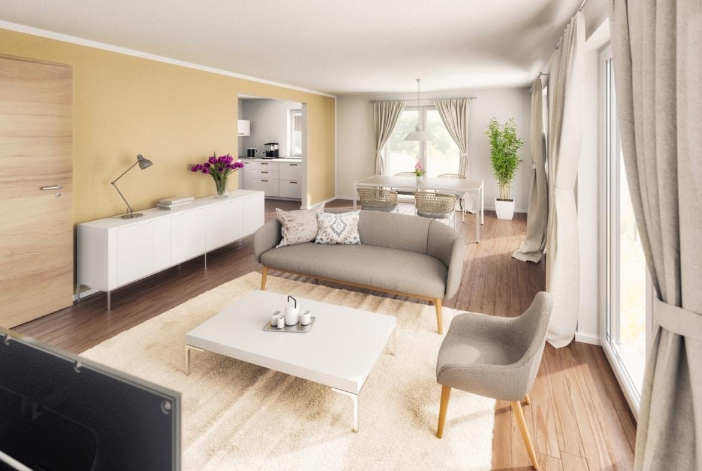 Wohn- Esszimmer - Inneneinrichtung Bungalow Haus innen Town & Country Haus Bungalow 92 - HausbauDirekt.de