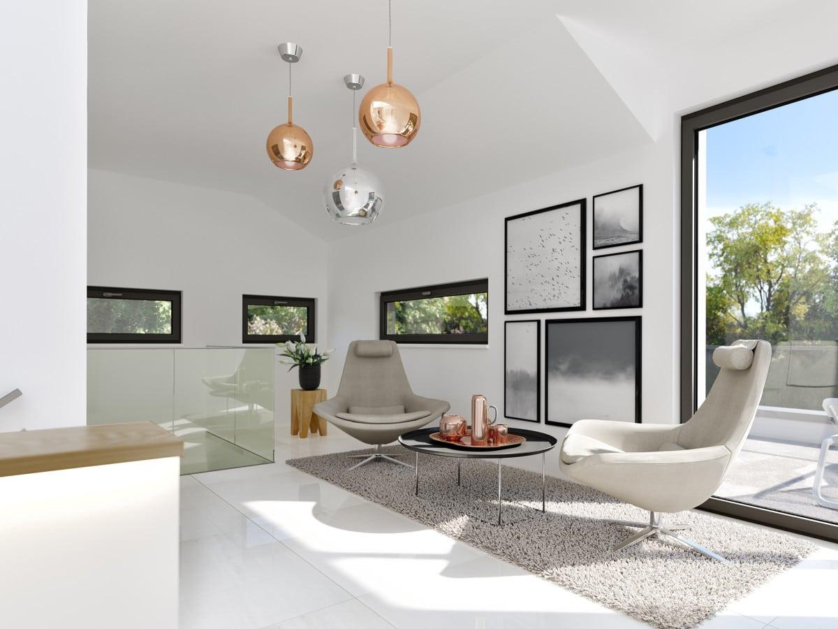 Galerie mit Luftraum - Ideen Haus Design innen Fertighaus Bien Zenker CONCEPT-M 211 Mannheim - HausbauDirekt.de