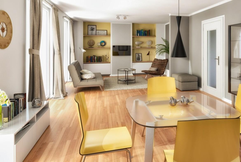 Offener Wohn- Essbereich - Ideen Inneneinrichtung Town Country Haus Flair 125 Trend - HausbauDirekt.de